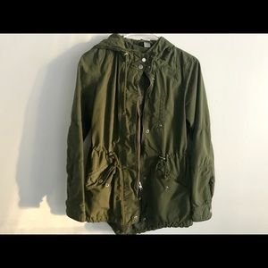 Jackets & Blazers - Army Green Jacket Button Up/ Hooded